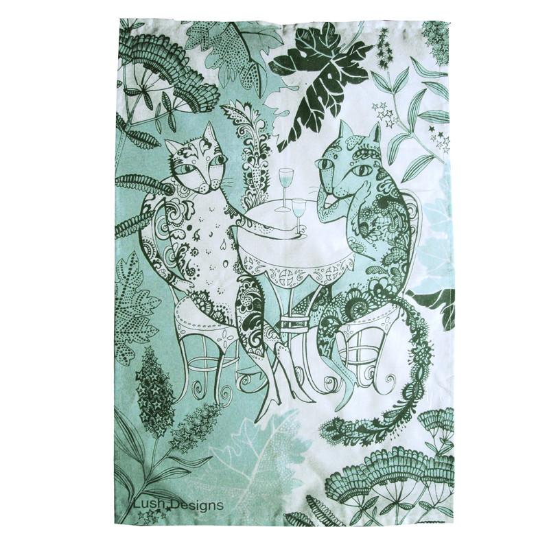 Lush Designs Cats Tea Towel