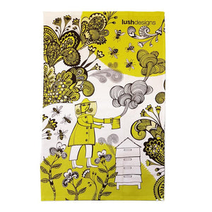 Lush Designs Bee Garden Tea Towel