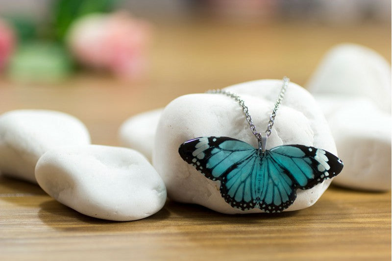 Acdria Blue Tiger Butterfly Pendant