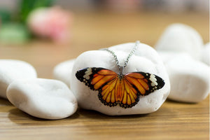 Acdria Orange Tiger Butterfly Pendant