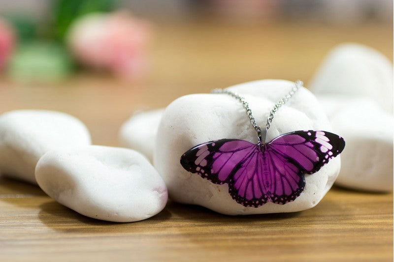 Acdria Purple Tiger Butterfly Pendant