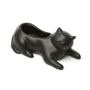 Cosmo the Black Cat Planter