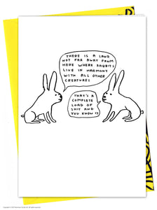 David Shrigley Live in Harmony Birthday Card
