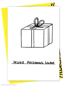 David Shrigley Huge Poisonous Snake Birthday Card