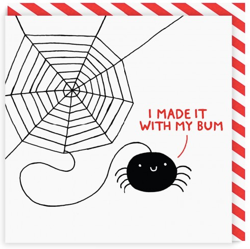 Gemma Correll I Made It With My Bum Card