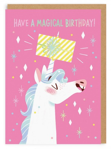 Mei Stovya Unicorn Birthday Card