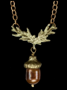 Michael Michaud Acorn Necklace