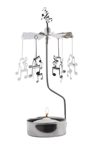 Music Notes Rotary Candle Holder