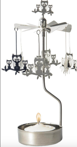 Owl Branch Rotary Candle Holder