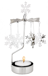 Pluto Snowflake Rotary Candle Holder