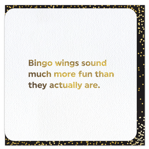 Quotish Foil Bingo Wings Card