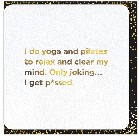 Quotish Foil Yoga and Pilates Card