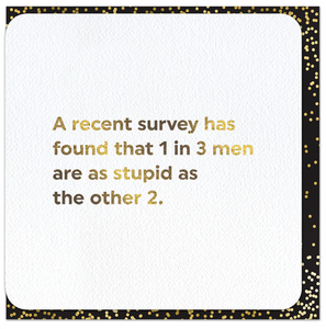 Quotish Foil Recent Survey Card
