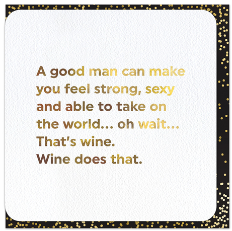 Quotish Foil A Good Man Card