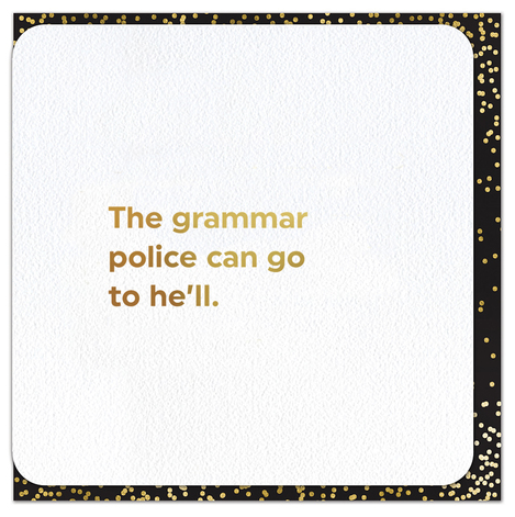 Quotish Foil Grammar Police