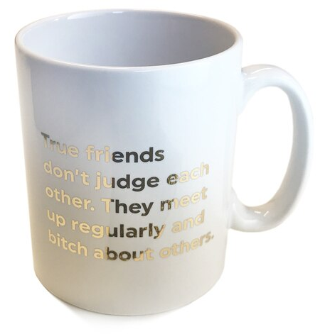 Quotish Foil Mug True Friends