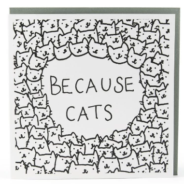 U studio Because Cats Card