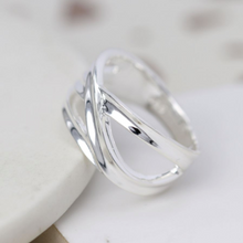 Load image into Gallery viewer, POM Sterling Silver Crossover Loop Ring