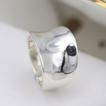 Load image into Gallery viewer, POM Sterling Silver Concave Chunky Band Ring