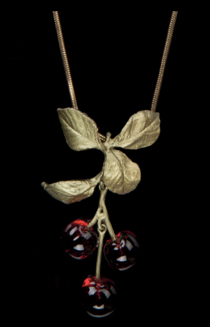 Michael Michaud Cherry Pendant Necklace