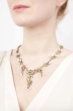 Load image into Gallery viewer, Michael Michaud Orange Blossom Statement Necklace