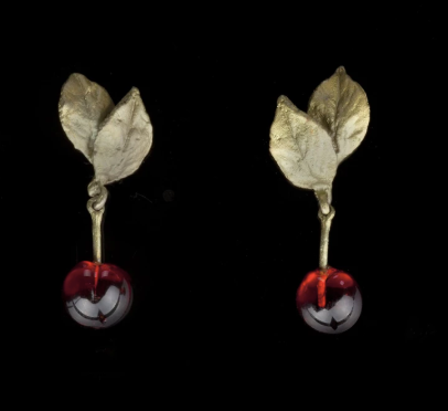 Michael Michaud Cherry Drop Post Earrings