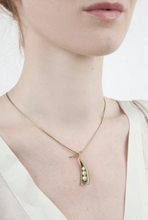Load image into Gallery viewer, Michael Michaud Pea Pod Necklace With Three Pearls