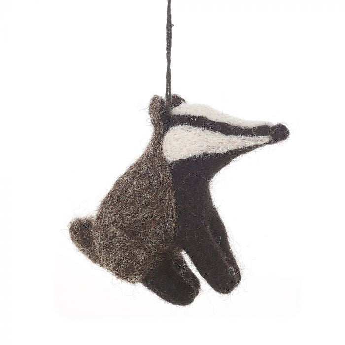 Felt So Good Bertie Badger hanging decoration