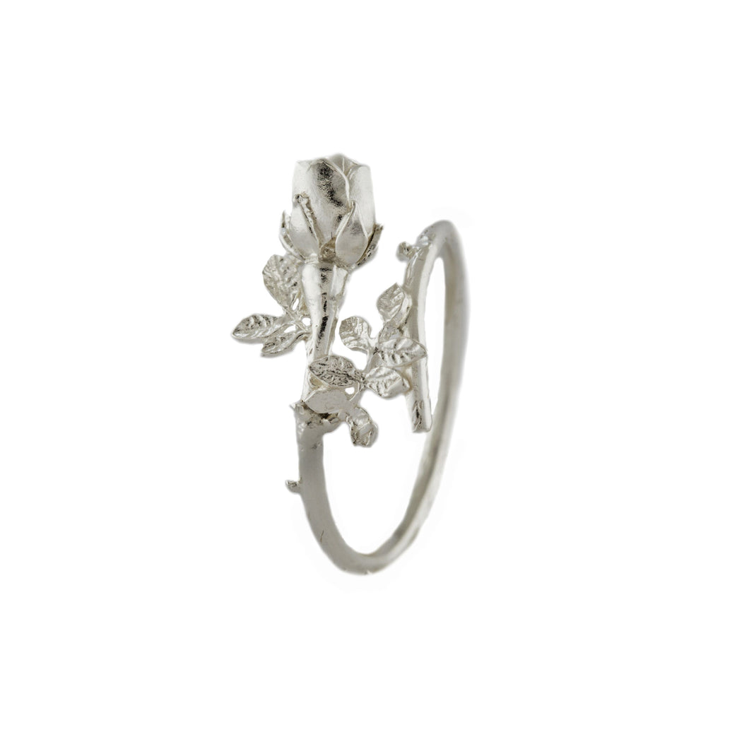 Alex Monroe Beauty & The Beast Rose Silver Ring