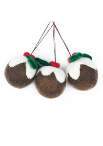 Felt So Good Christmas Pudding Hanging Decoration