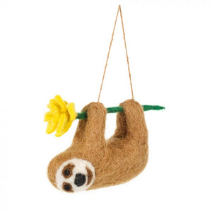 Felt So Good Sunny Sloth Hanging Decoration