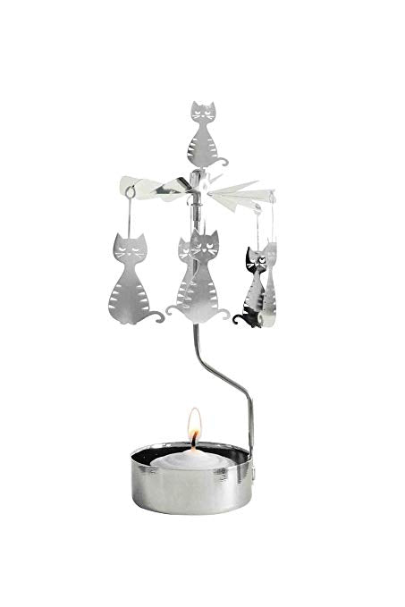 Pluto 'Dodgy Cat' Rotary Candle Holder