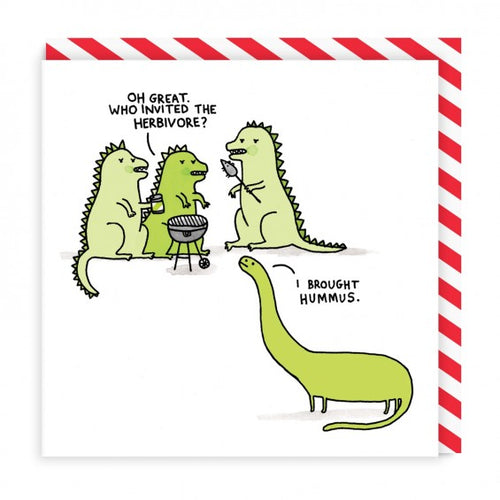 Gemma Correll Herbivore Square Greeting Card