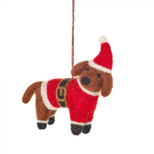 Felt So Good Buddy The Festive Dog Hanging Decoration