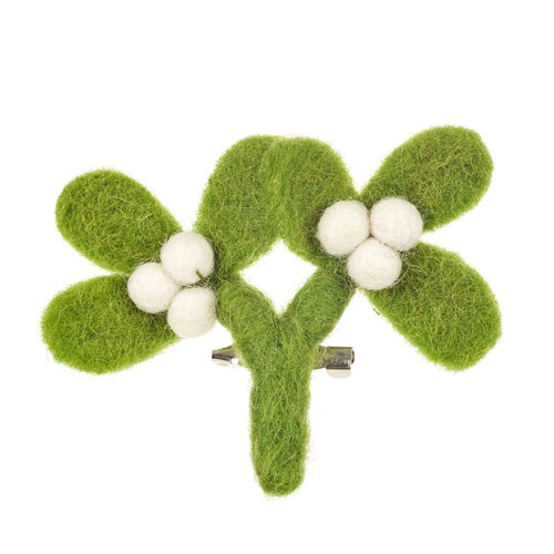 Felt So Good Mistletoe Brooch