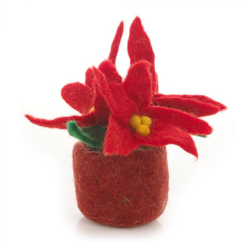 Felt so Good Mini Poinsetta Felt Plant