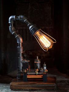 AJ Metal and Light Large Rheostat Industrial Lamp