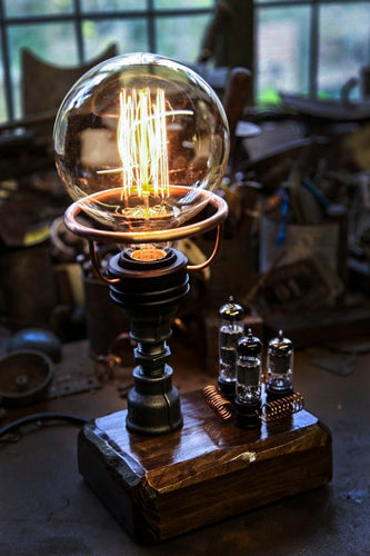 AJ Metal & Light Small Valve Industrial Lamp