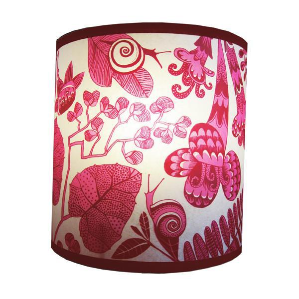 Lush Designs Pink Flowers & Snails Shade