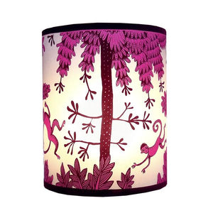Lush Designs Fuchsia Monkey Lampshade