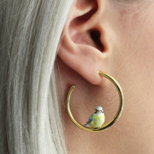 Load image into Gallery viewer, Bill Skinner Blue Tit Hoop Earrings