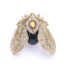 Load image into Gallery viewer, Bill Skinner Bejewelled Moth Brooch