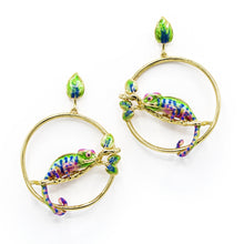 Load image into Gallery viewer, Bill Skinner Chameleon Hoop Earrings