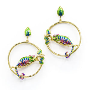 Bill Skinner Chameleon Hoop Earrings