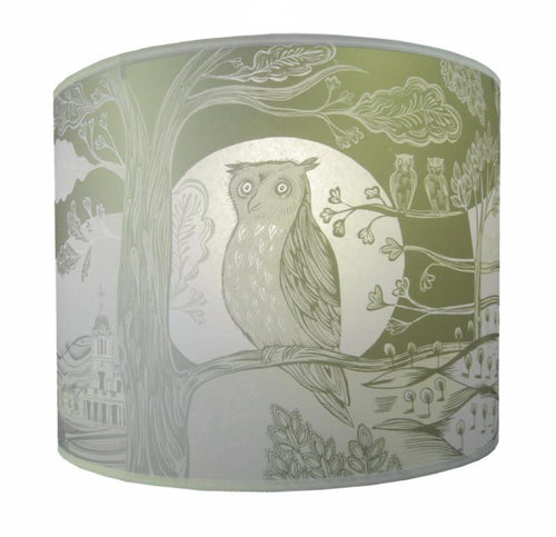 Lush Designs Gold Owl Lampshade