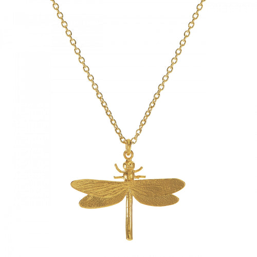 Alex Monroe Gold Plated Dragonfly Necklace