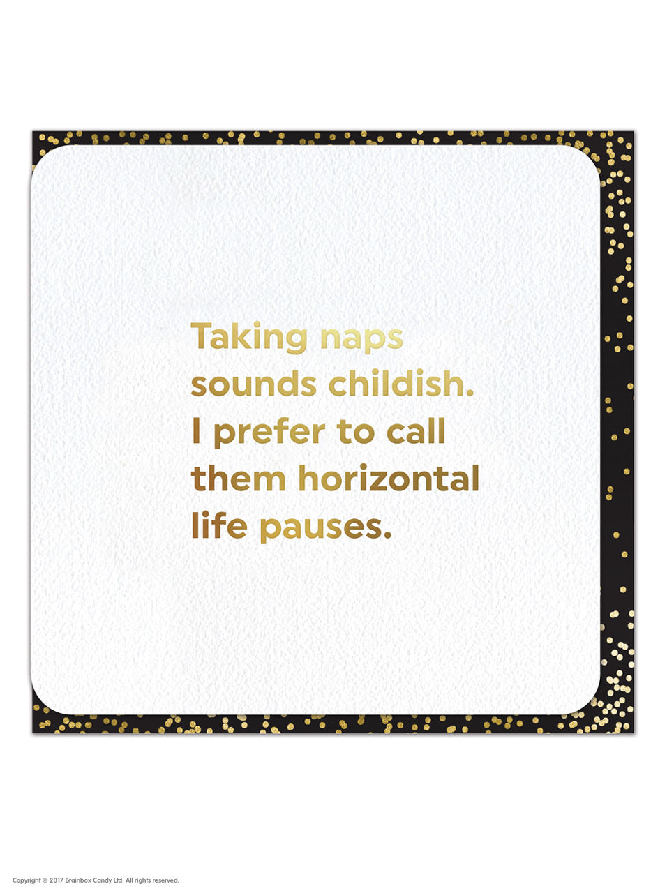 Quotish Taking Naps Card