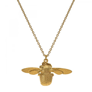 Alex Monroe Gold Plated Bumblebee Necklace
