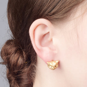 Bill Skinner Owl Studs Gold