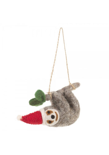 Felt So Good Christmas Sloth Hanging Decoration